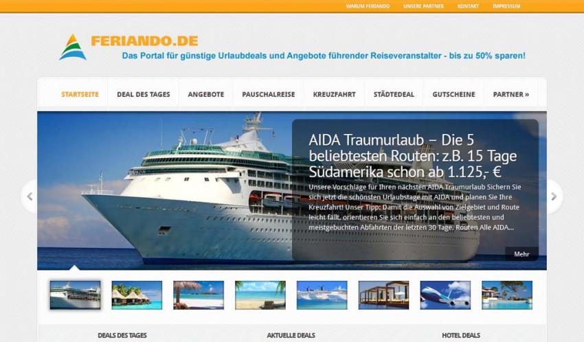 Reiseportal Feriando.de
