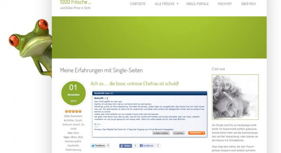 Single-Community 1000 Frösche